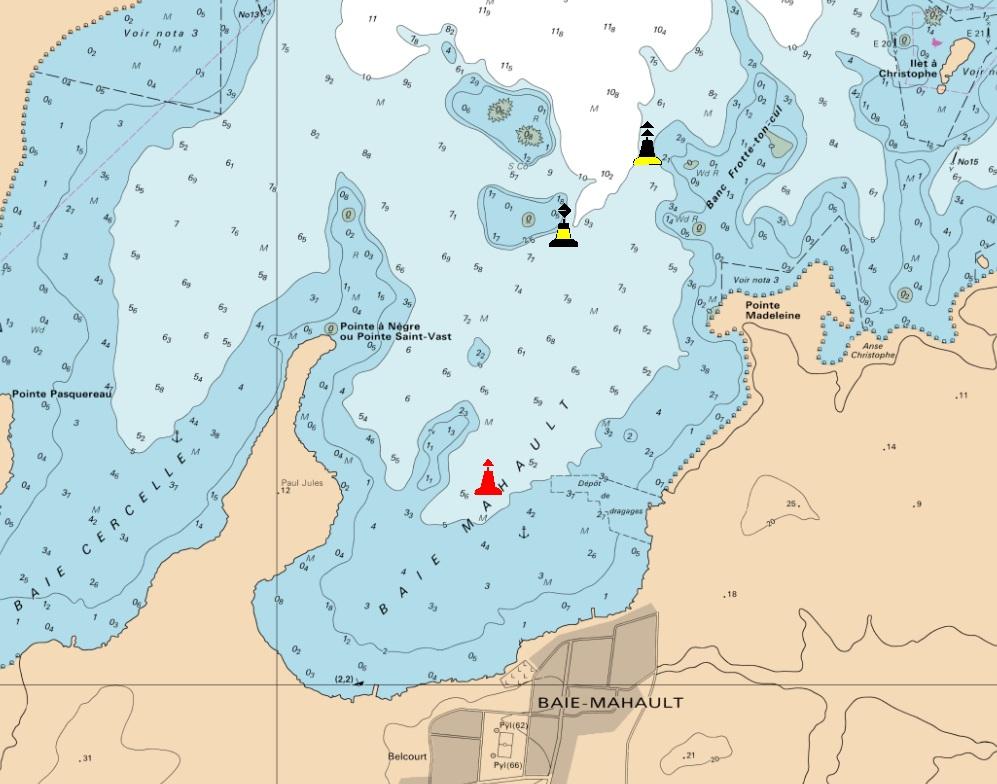 Un nouveau balisage maritime à la baie Mahault / Archives 2015